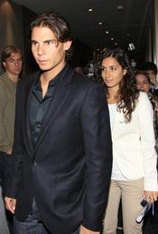 Rafa Nadal acompañado por su novia, Xisca Perelló