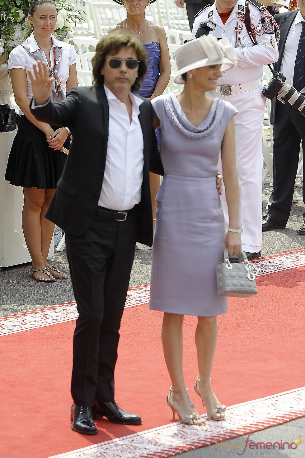Jean Michel Jarre llega a la ceremonia religiosa de la Boda Real de Mónaco