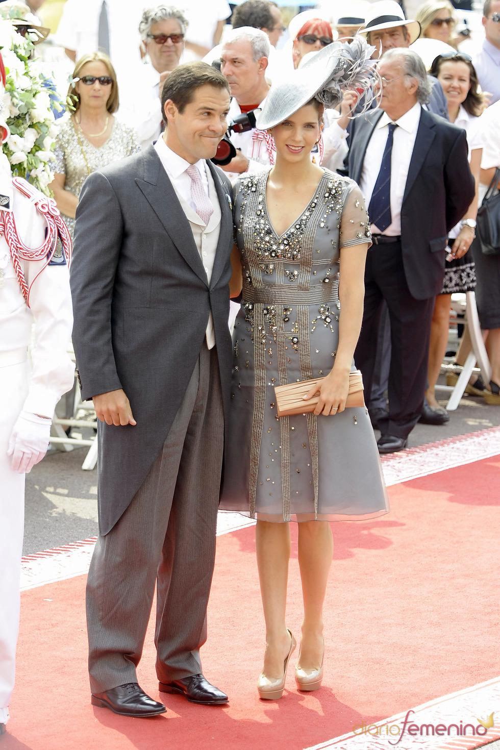 Luis Alfonso de Borbón y Margarita Vargas llega a la ceremonia religiosa de la Boda Real de Mónaco
