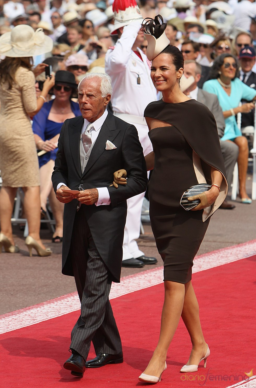 Giorgio Armani llega a la ceremonia religiosa de la Boda Real de Mónaco