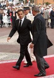 Nicolás Sarkozy llega a la ceremonia religiosa de la Boda Real de Mónaco