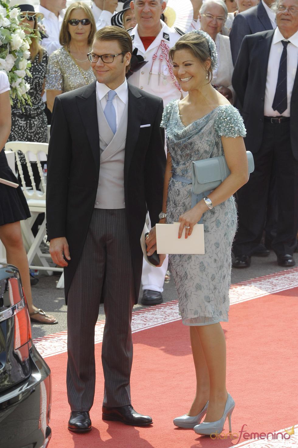 Victoria de Suecia llega a la ceremonia religiosa de la Boda Real de Mónaco