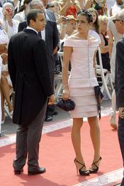 Carlota Casiraghi llega a la ceremonia religiosa de la Boda Real de Mónaco