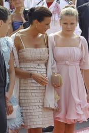 Estefanía de Mónaco llega a llega a la ceremonia religiosa de la Boda Real de Mónaco
