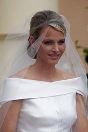 Charlene Wittstock, radiante de novia en la ceremonia religiosa de la Boda Real de Mónaco