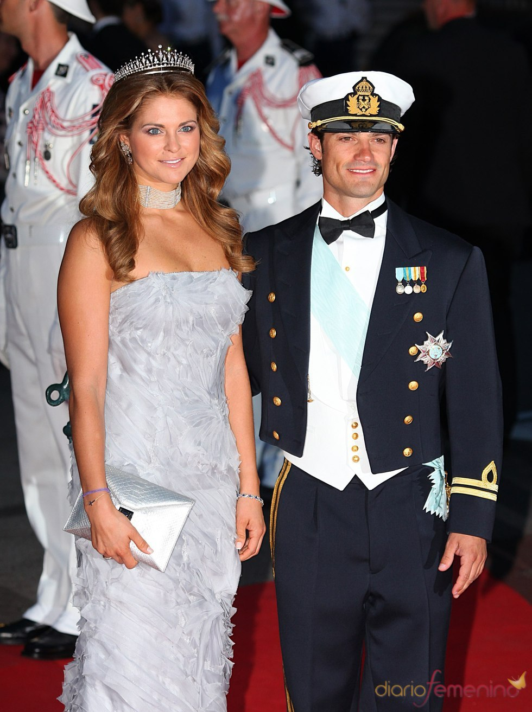 Magdalena de Suecia en la cena de gala de la Boda Real de Mónaco