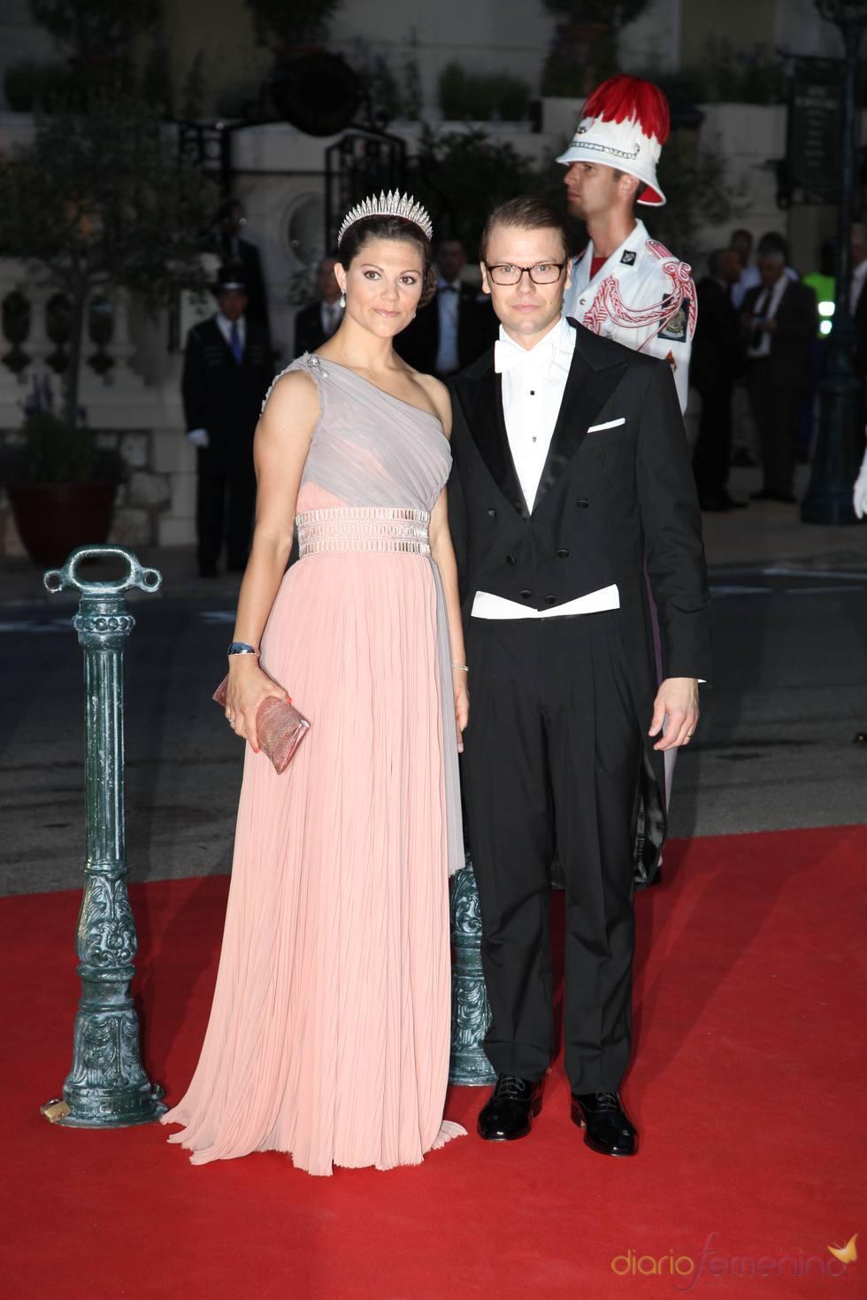Victoria de Suecia en la cena de gala de la Boda Real de Mónaco