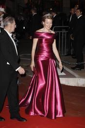 Matilde de Bélgica en la cena de gala de la Boda Real de Mónaco