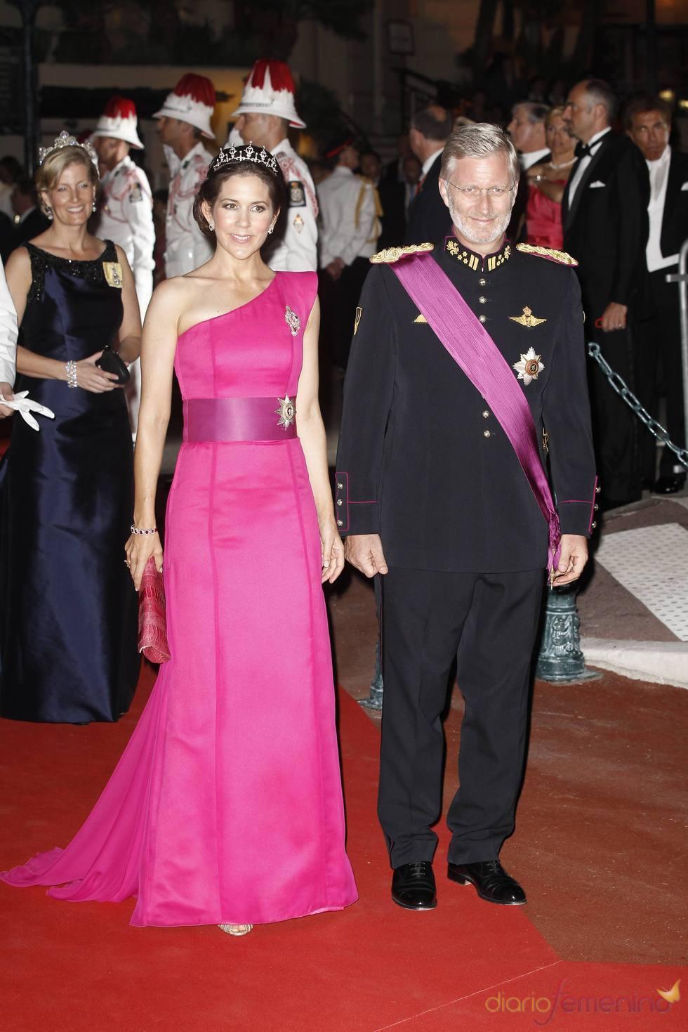 Felipe y María de Dinmarca en la cena de gala de la Boda Real de Mónaco
