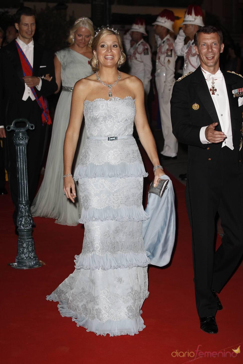 Máxima de Holanda en la cena de gala de la Boda Real de Mónaco