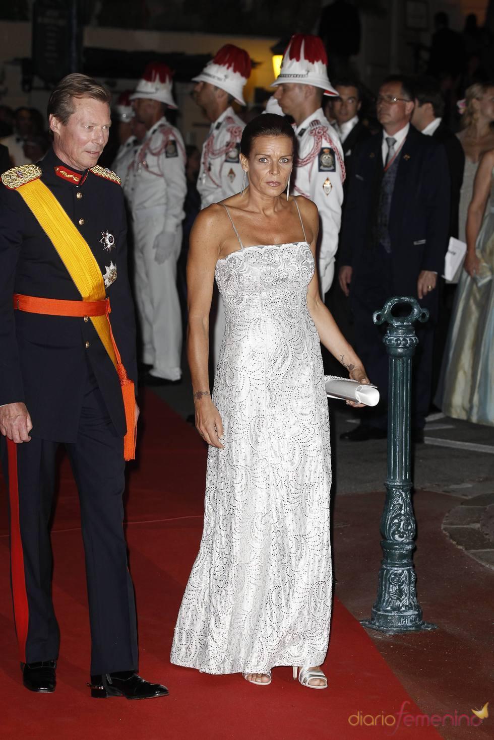 Estefanía de Mónaco en la cena de gala de la Boda Real de Mónaco