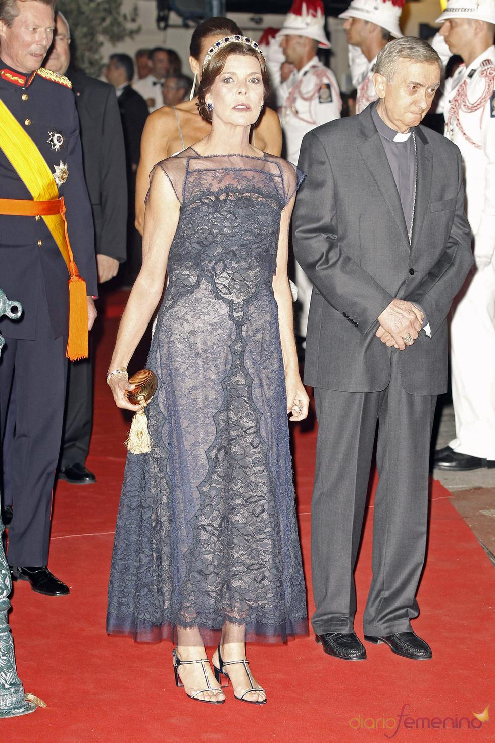 Carolina de Mónaco la cena de gala de la Boda Real de Mónaco