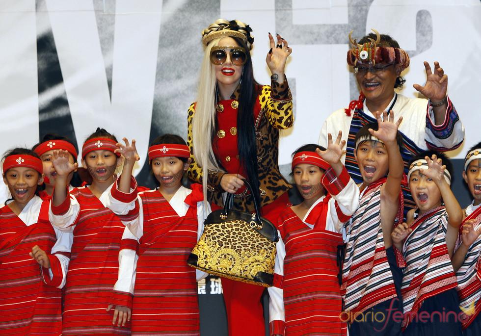 Lady Gaga, recibida con honores en Taiwán