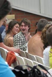 Daniel Radcliffe y Oliva Uniacke pillados juntos en julio de 2010