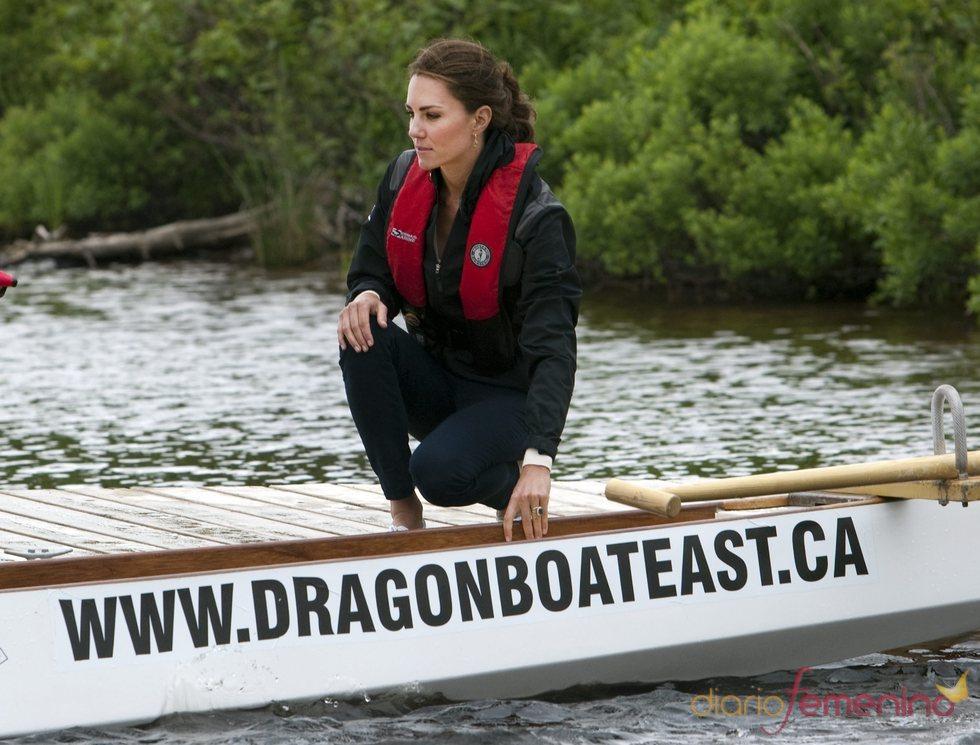 Kate Middleton participa en una regata en el lago Dalvay de Canadá