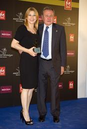 Amparo Larrañaga y Carlos Larrañaga en los premios Estrella de Oro 2011