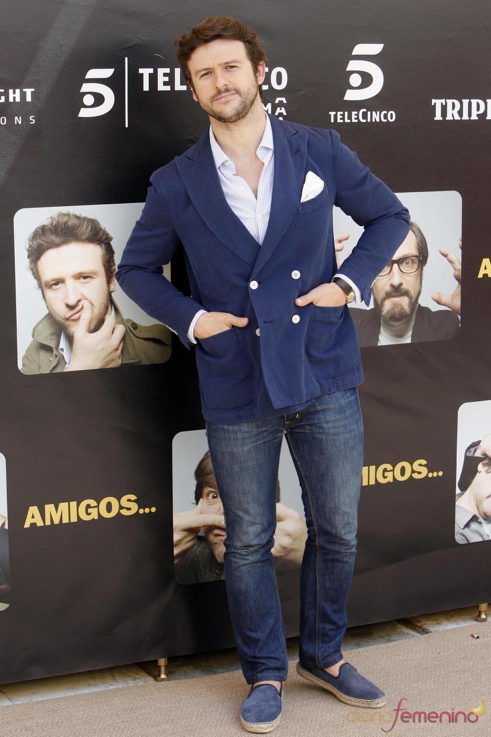 Diego Martín durante la promoción de la película 'Amigos'
