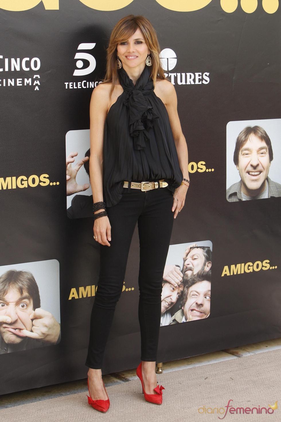 Goya Toledo durante la promoción de la película 'Amigos'