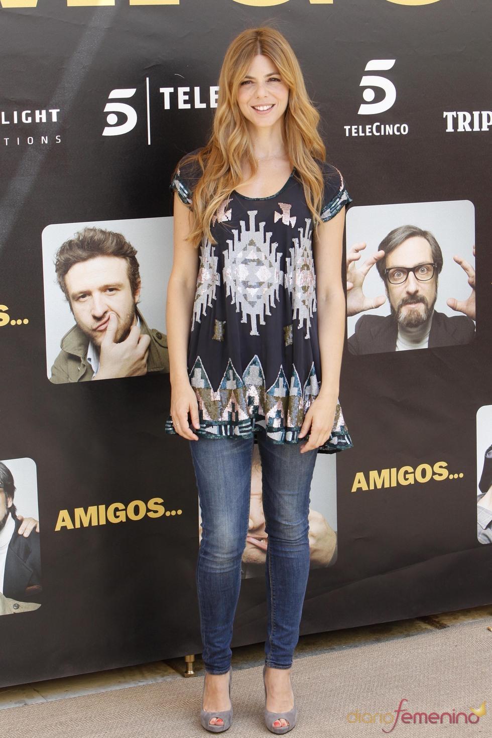 Manuela Velasco durante la promoción de la película 'Amigos'