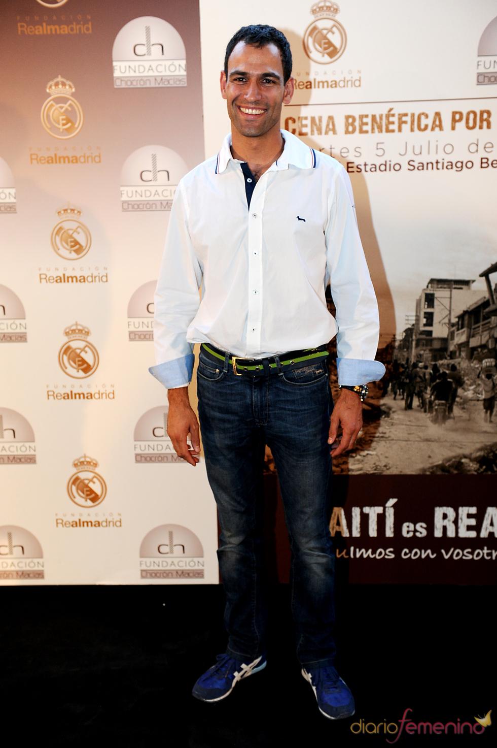 El cocinero Darío Barrio en una cena benéfica en el Bernabéu