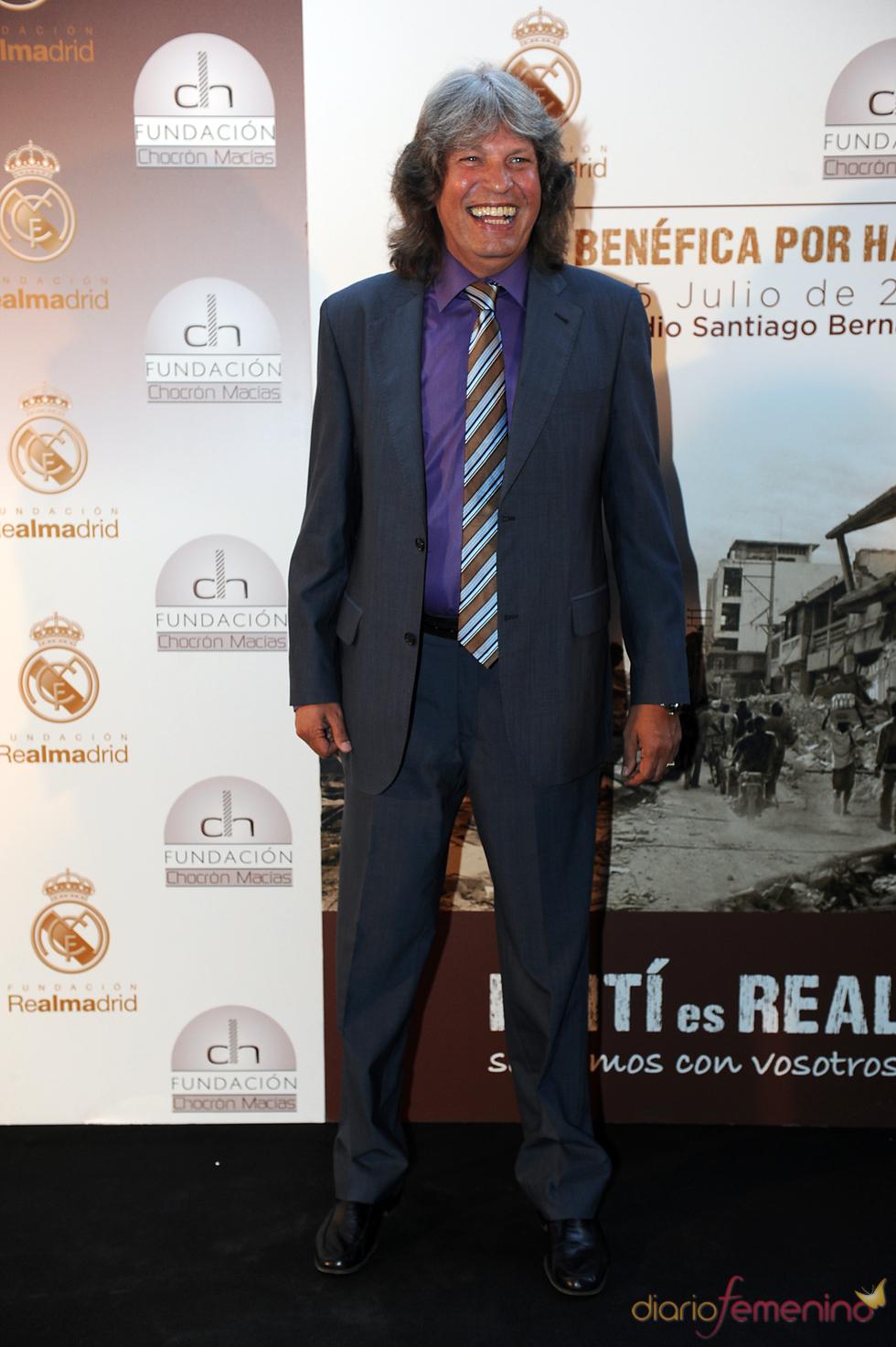 José Mercé en una cena benéfica celebrada en el Bernabéu