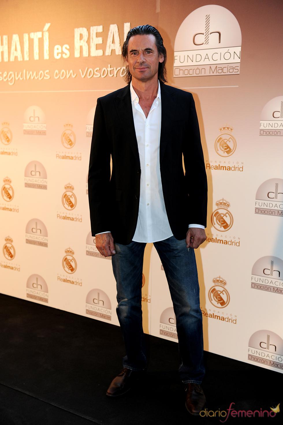 Víctor Ochoa en una cena benéfica celebrada en el Bernabéu