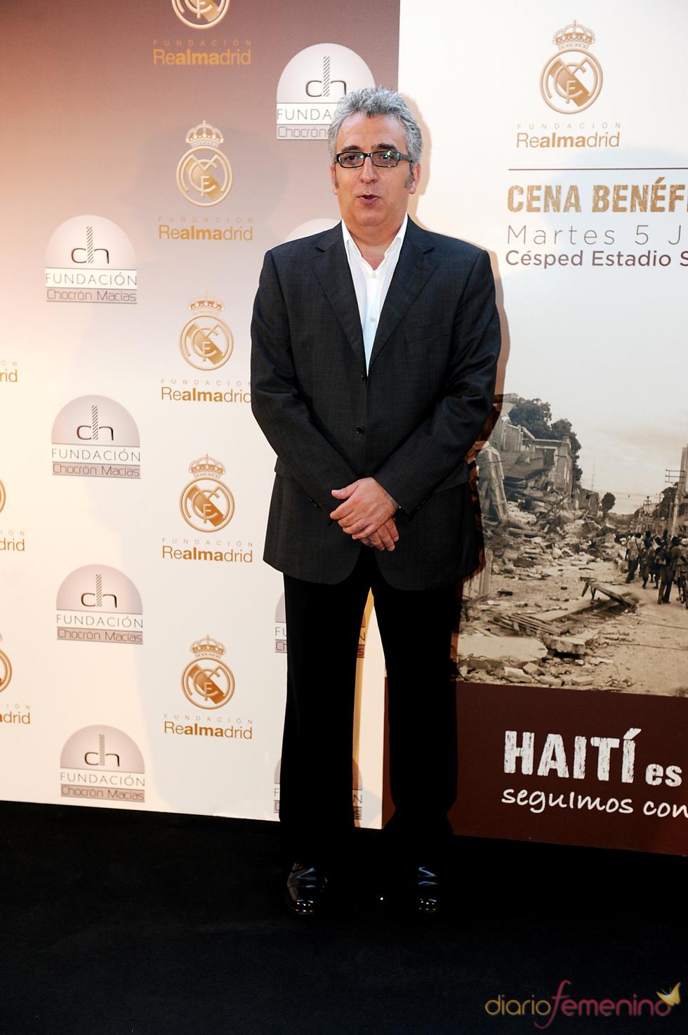 Leo Harlen en una cena benéfica celebrada en el Bernabéu