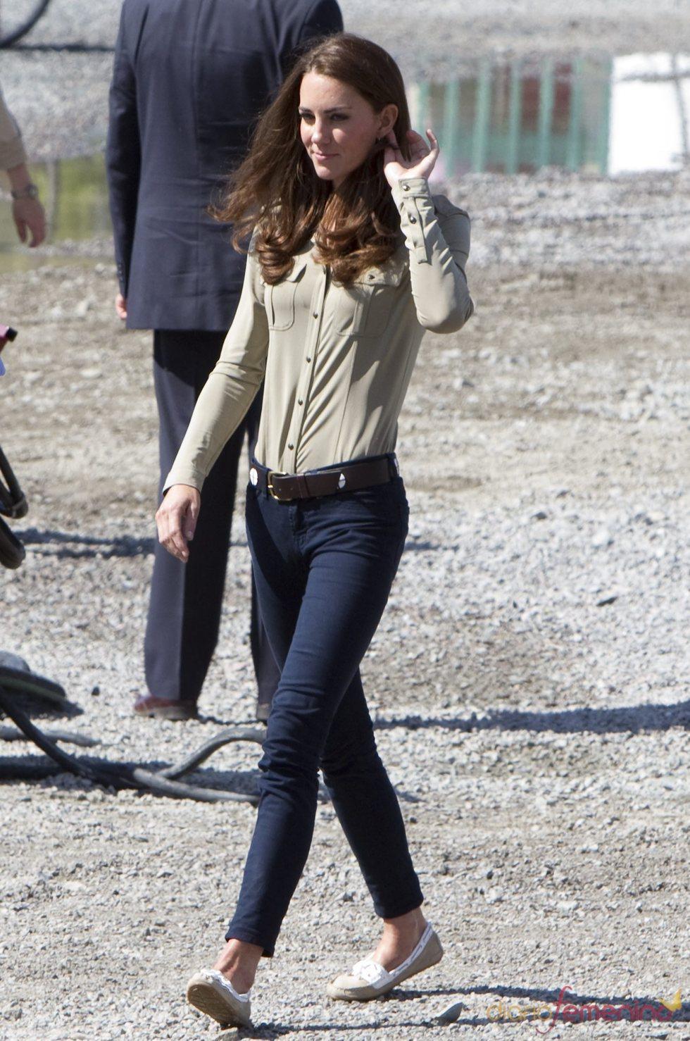 Kate Middleton con un 'look' muy cómodo en Canadá