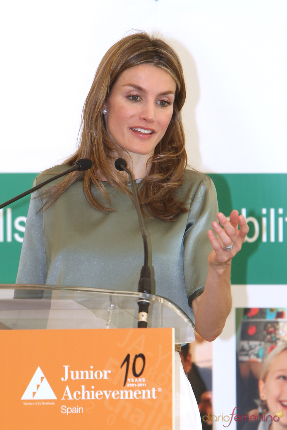 Letizia Ortiz en la inauguración del VIII Competición Europea Enterprise Challenge