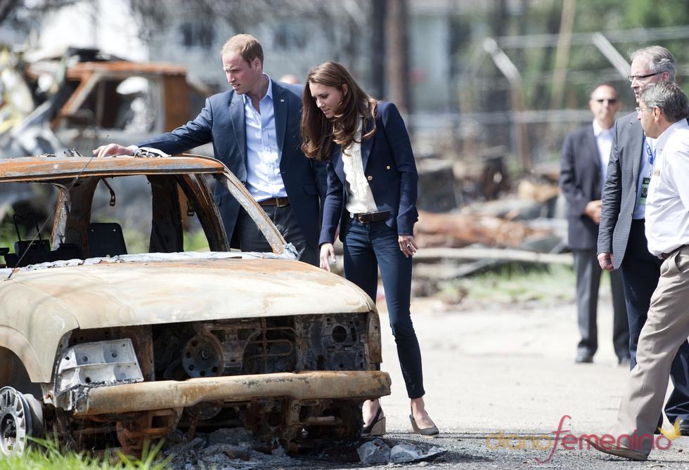 Catalina Middleton y el príncipe Guillermo visitan la ciudad de Slave Lake