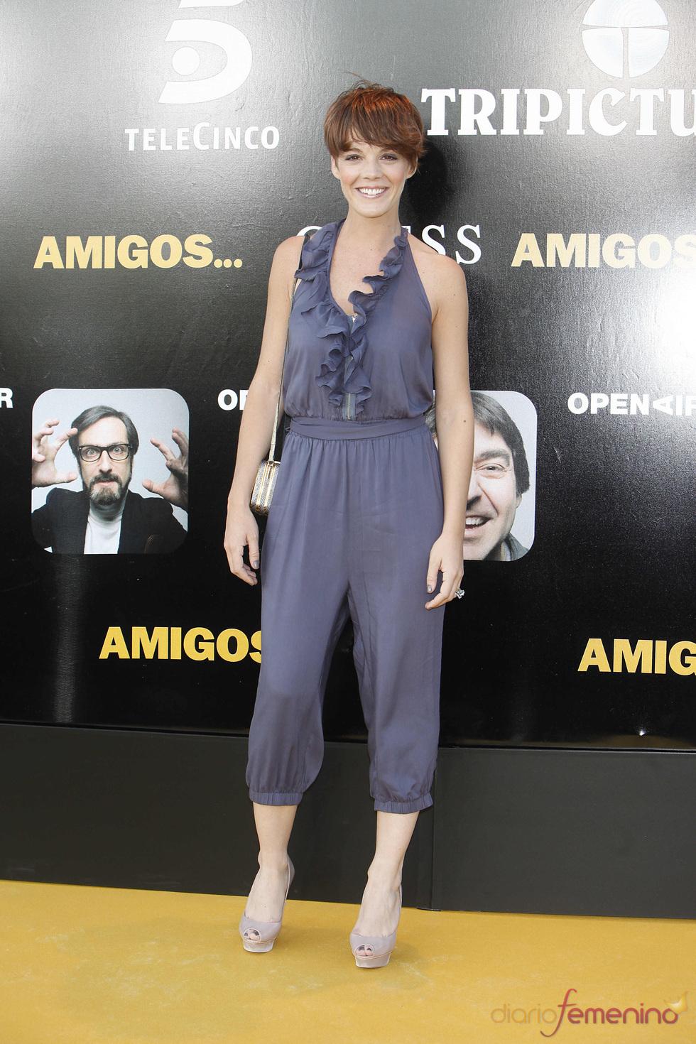 La actriz Bárbara Muñoz en el estreno de la película 'Amigos'