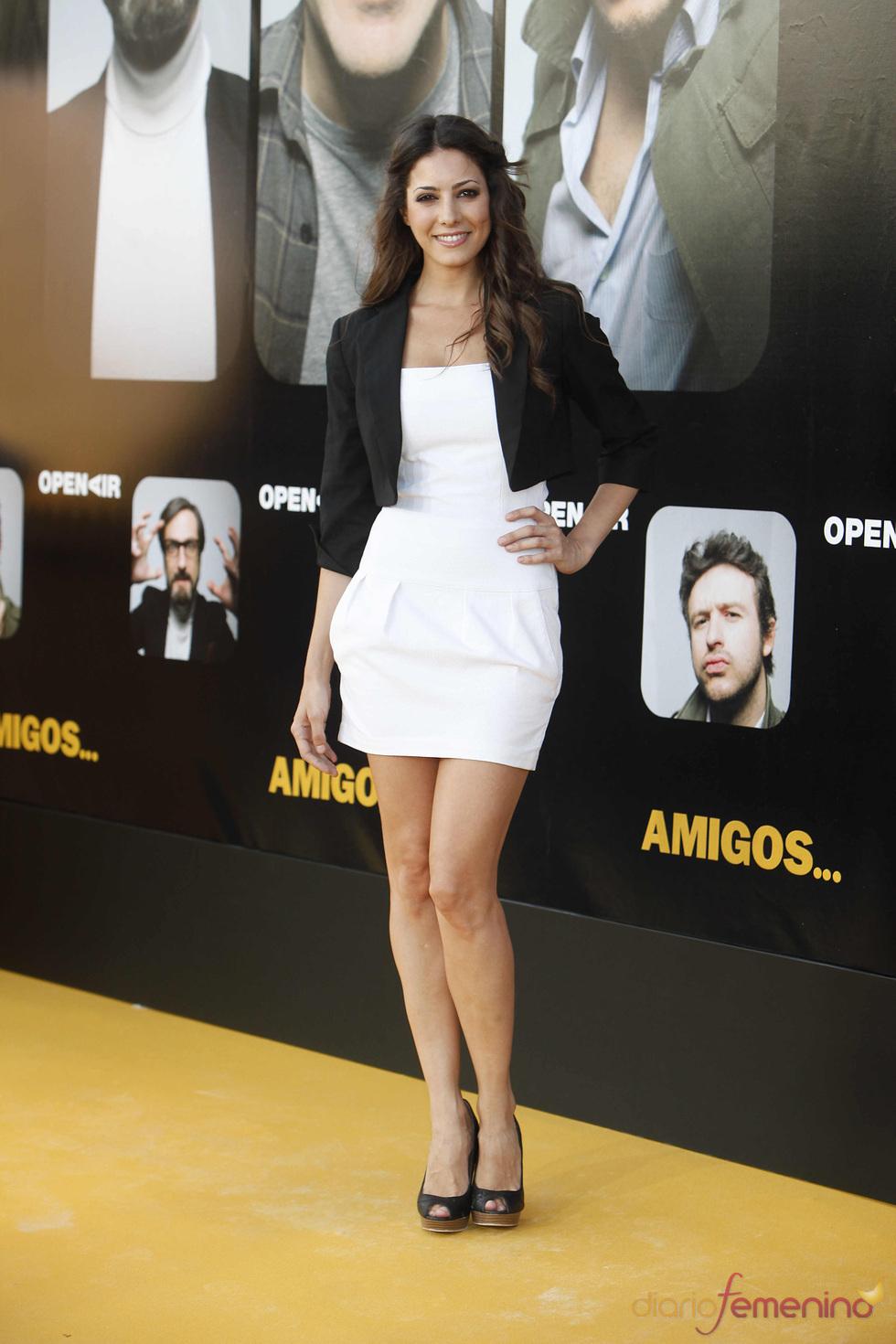 Aroa Gimeno en el estreno de la película 'Amigos'
