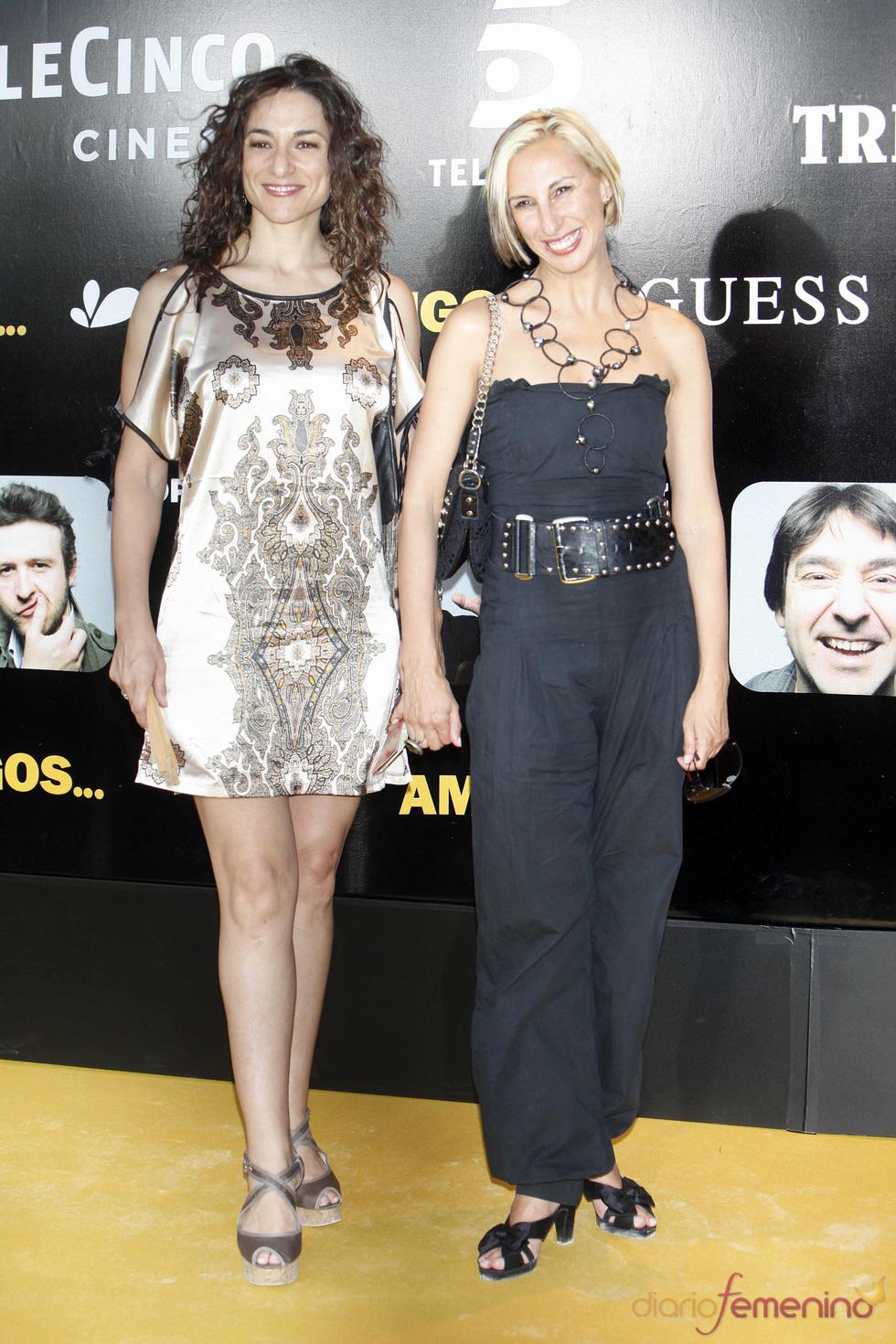 La presentadora Isabel Serrano en el estreno de la película 'Amigos'