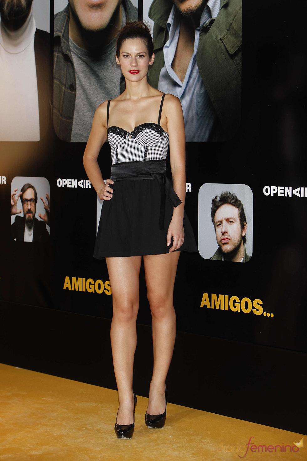 La actriz Lidia San José en el estreno de la película 'Amigos'