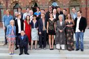 El elenco de 'Harry Potter' posa en el hotel St. Pancras de Londres