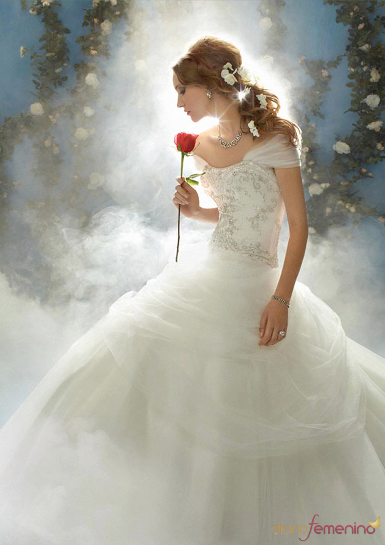 Vestido de novia inspirado en 'La Bella y la Bestia' de Disney