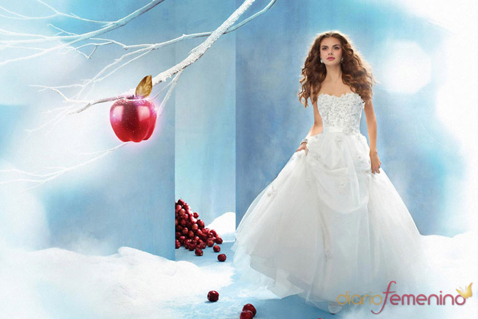 Vestido de novia inspirado en 'Blancanieves y los siete enanitos' de Disney