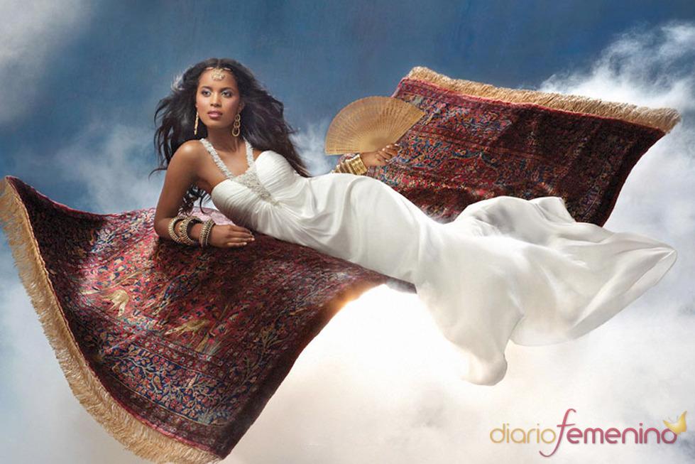 Vestido de novia inspirado en 'Aladín' de Disney