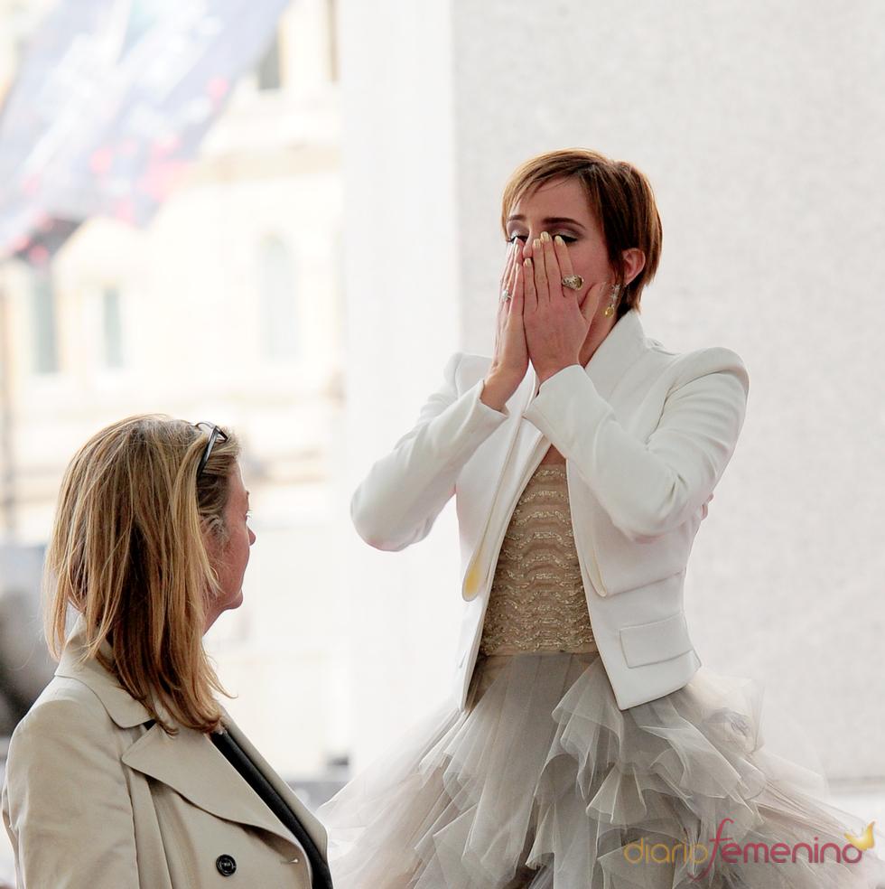 Emma Watson emocionada en la premier mundial de 'Harry Potter'