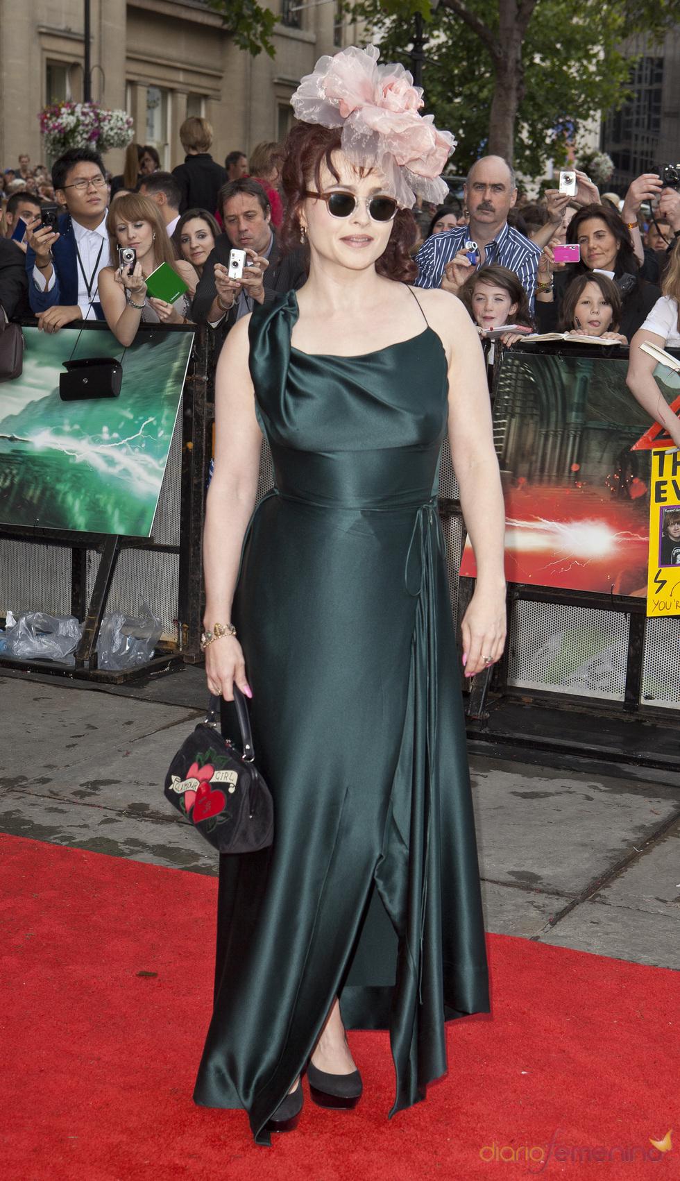 Helena Bonham Carter llega a la premier mundial de 'Harry Potter'