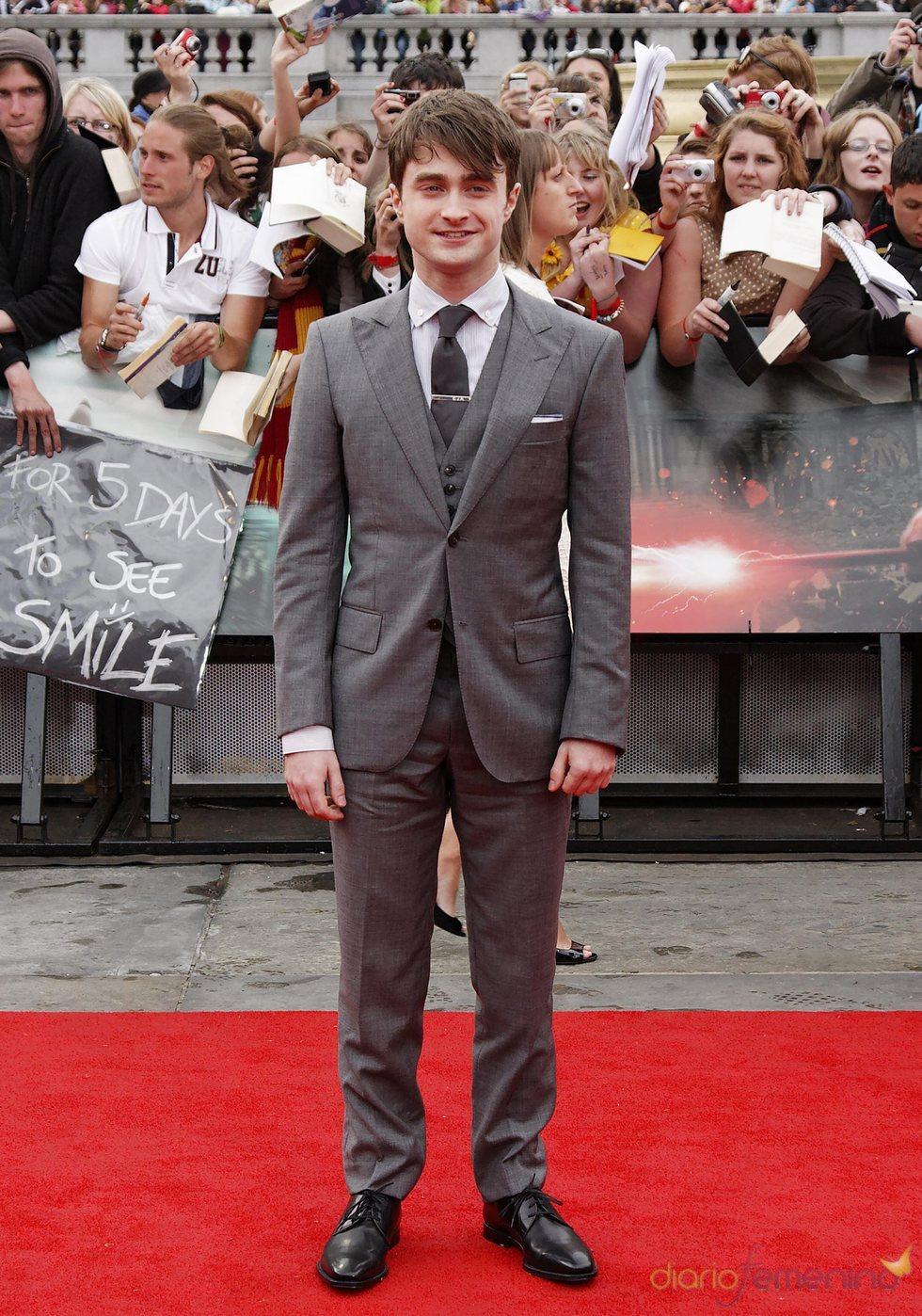 Daniel Radcliffe llaga a la premier mundial de 'Harry Potter'