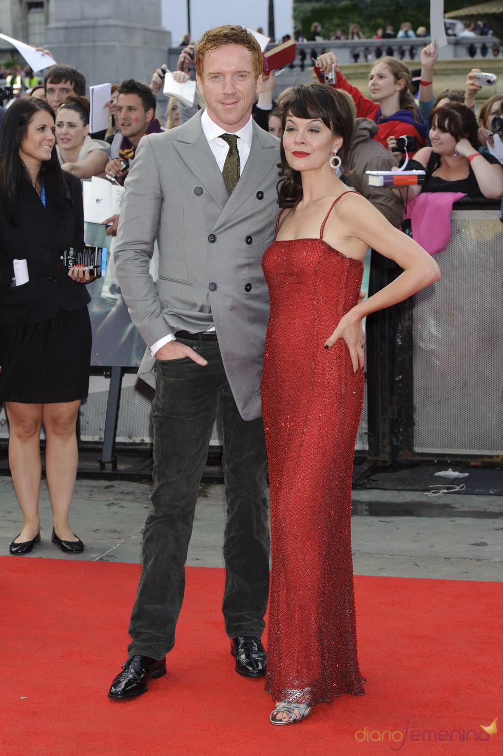 Helen McCrory y Damian Lewis llegan a la premier mundial de 'Harry Potter'
