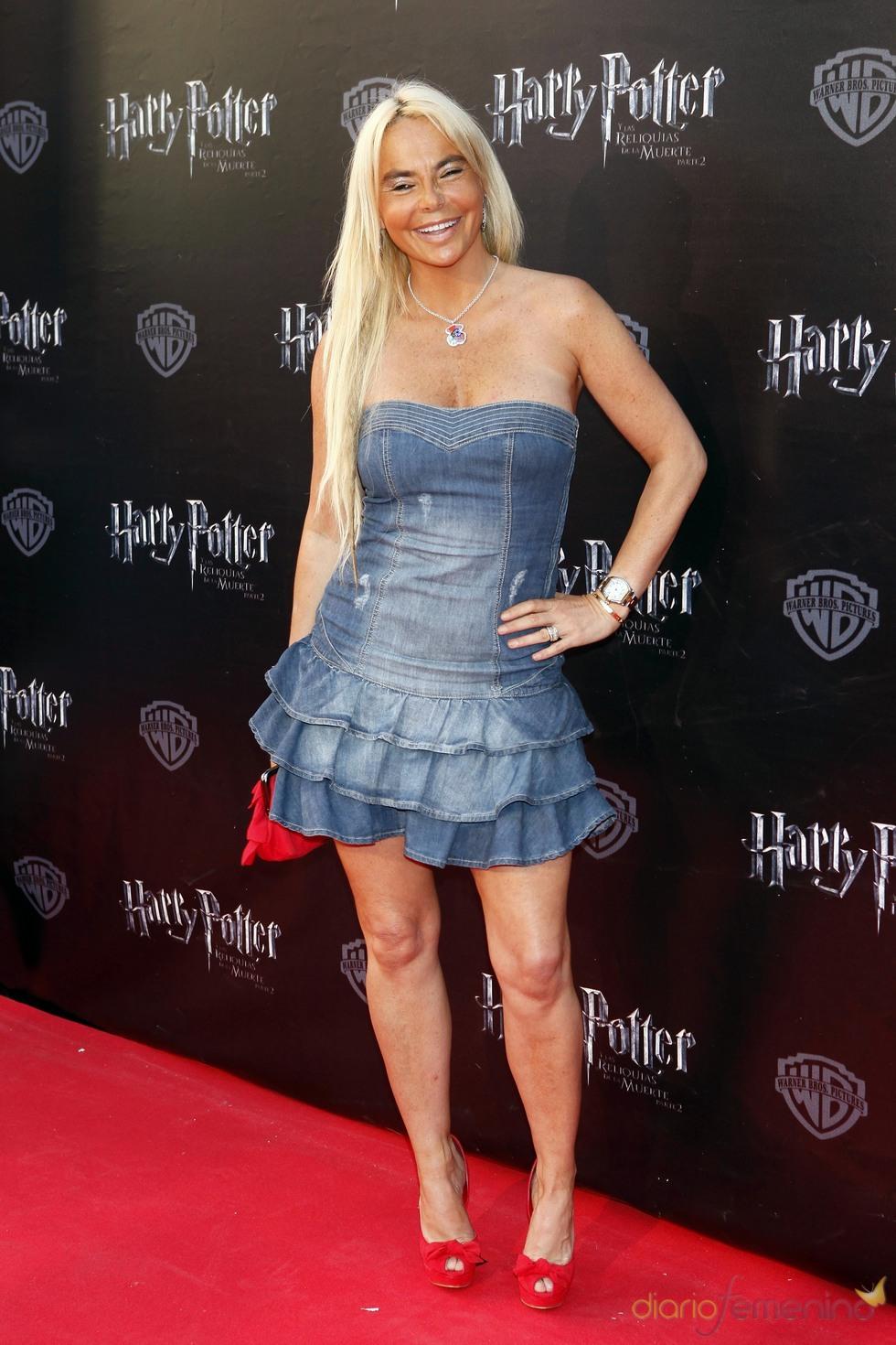Leticia Sabater en el estreno de 'Harry Potter' en Madrid