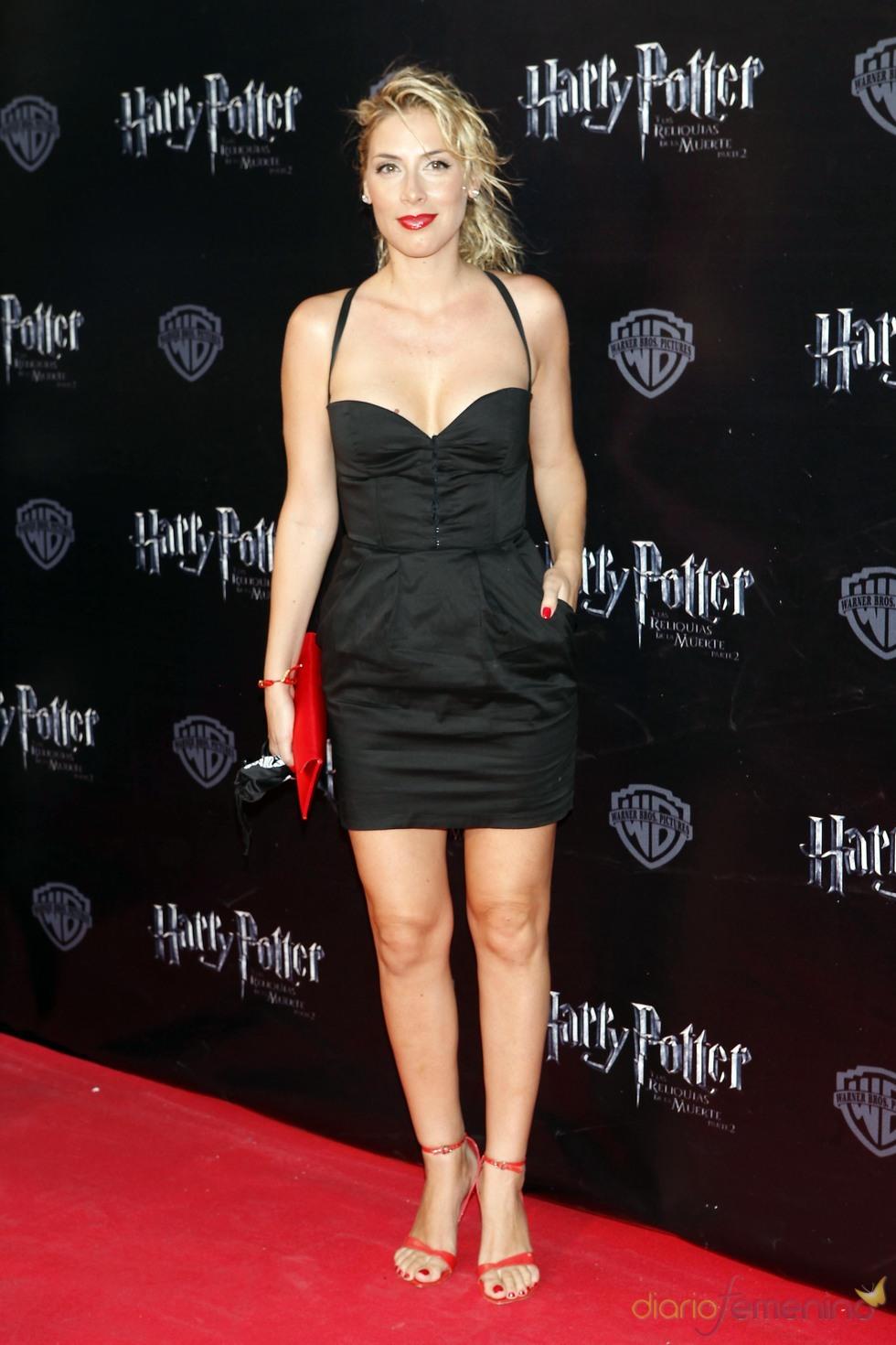 Roser durante el estreno de 'Harry Potter' en Madrid