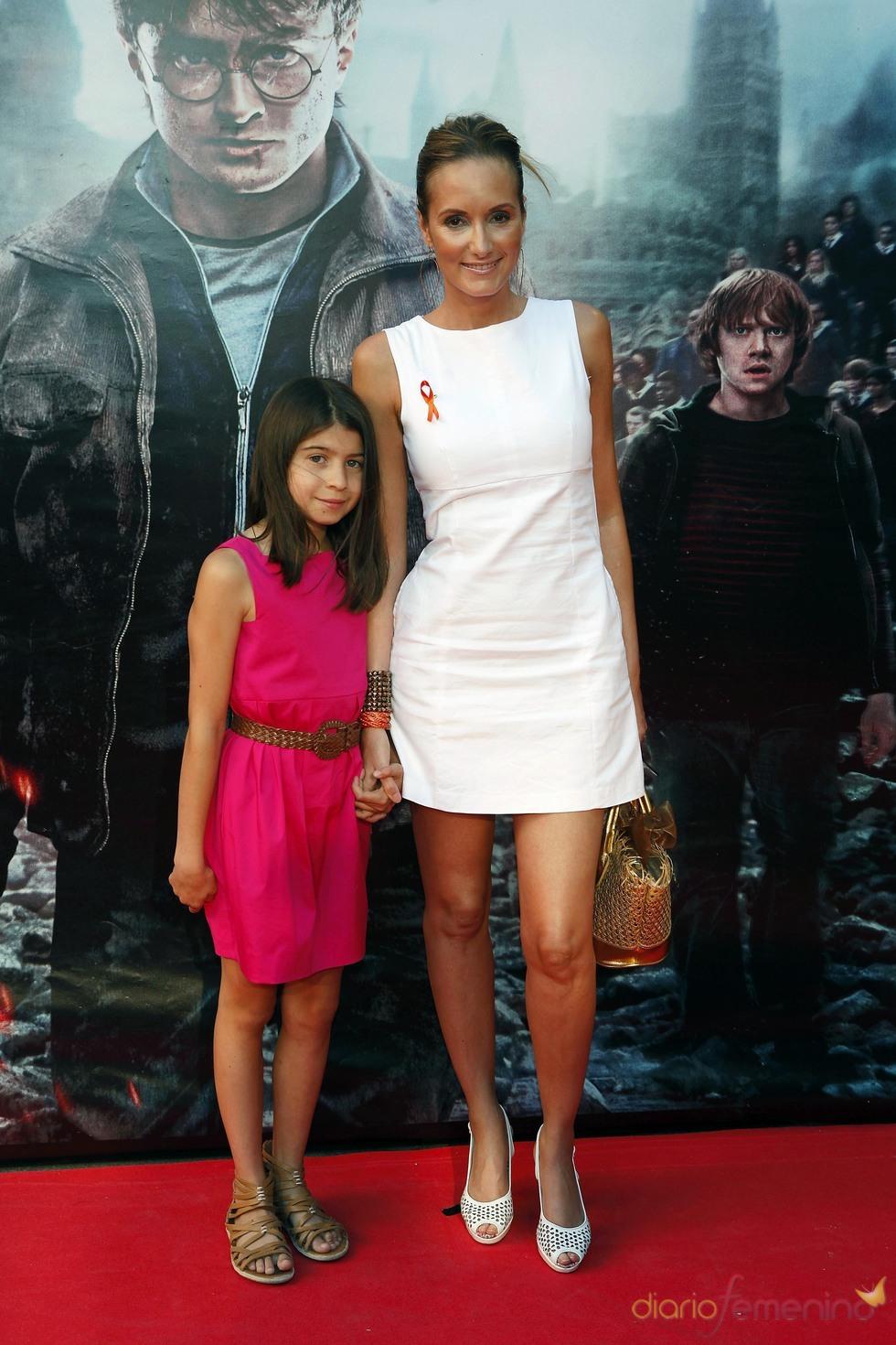 Sandra Ibarra durante la premier de 'Harry Potter' en Madrid