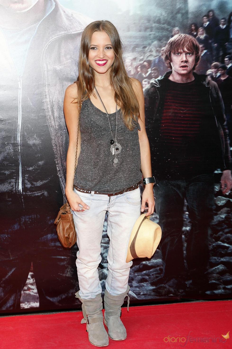 Ana Fernández durante la premier de 'Harry Potter' en Madrid