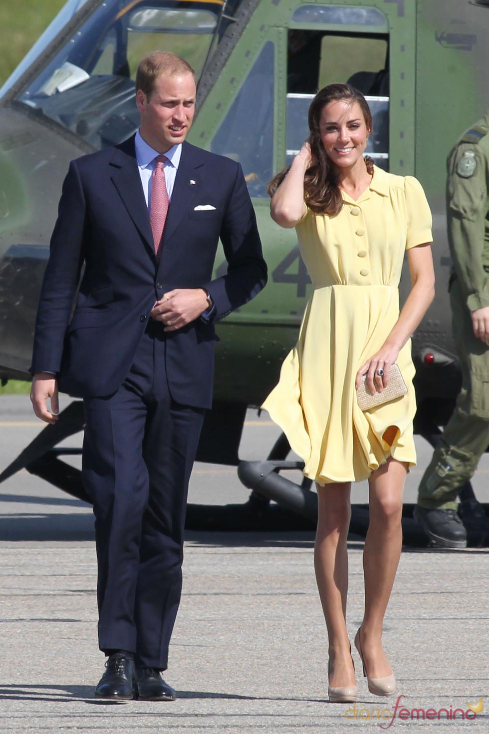 Guillermo de Inglaterra y Kate Middleton se despiden de Canadá