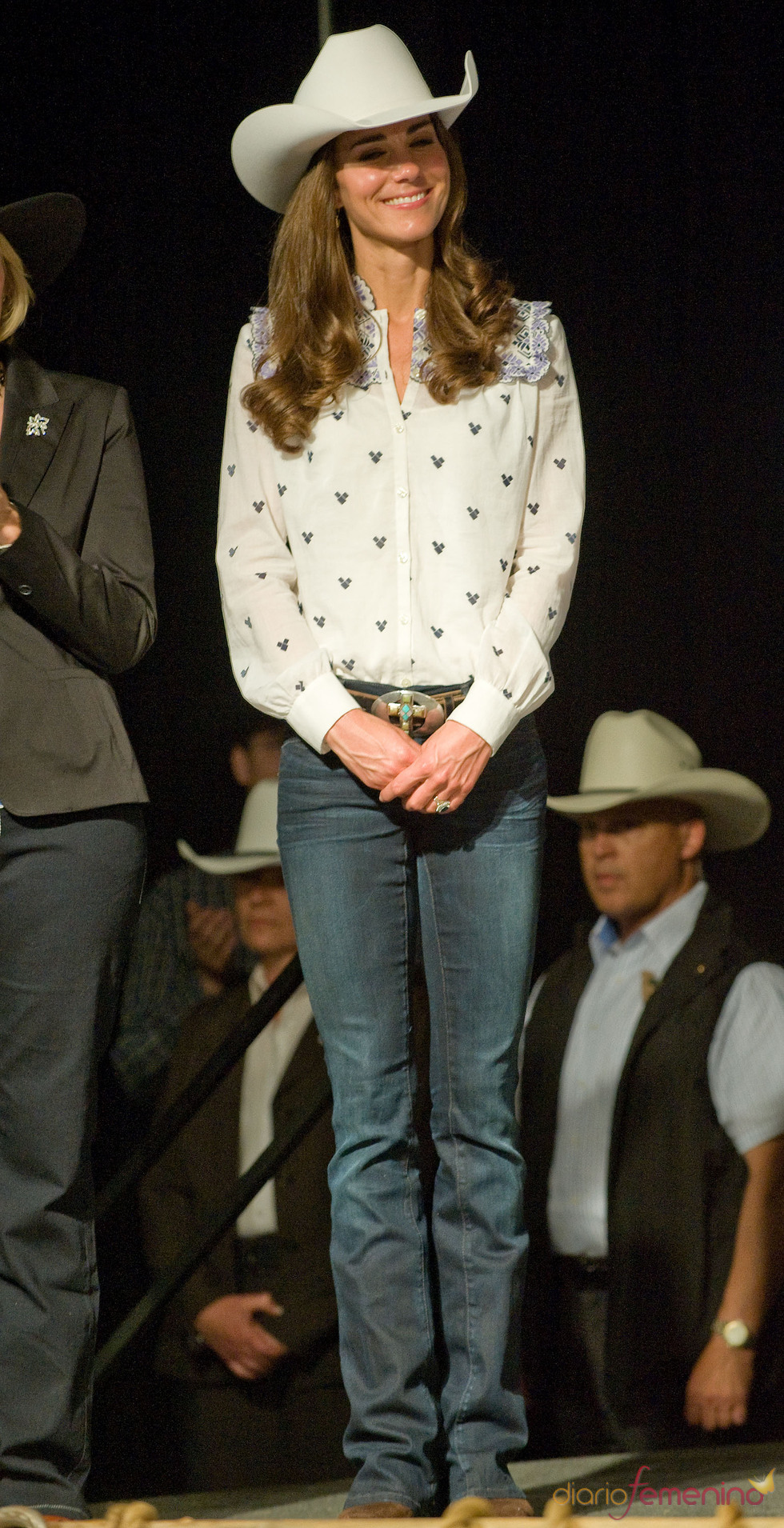 Kate Middleton se viste de cowboy en Canadá