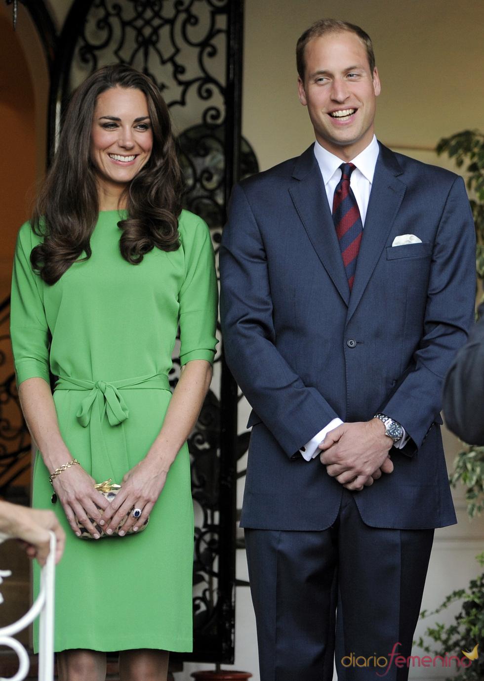 Guillermo de Inglaterra y Kate Middleton a su llegada a Los Ángeles