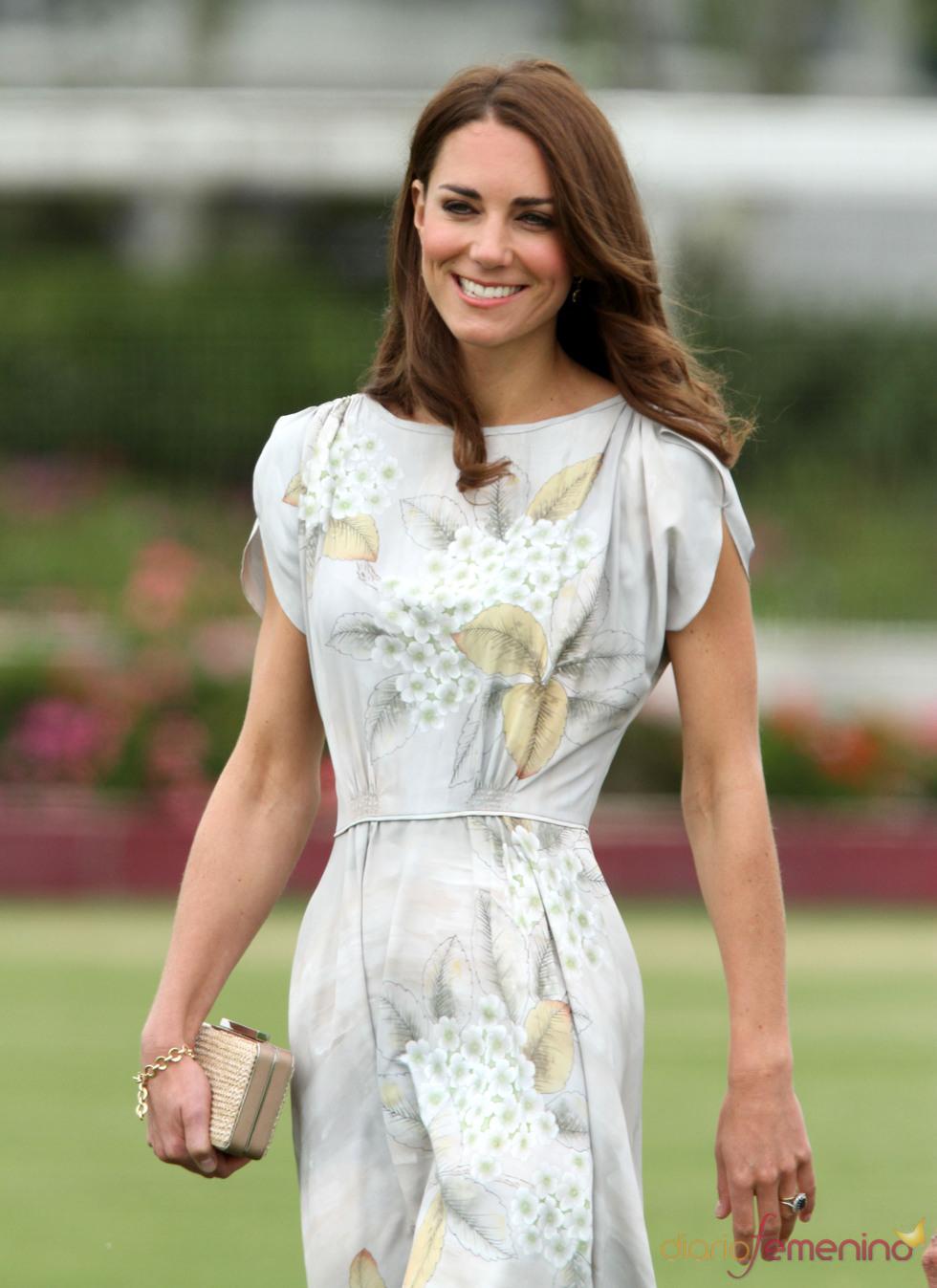Kate Middleton durante un partido benéfico de polo en Los Ángeles